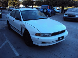1999 MITSUBISHI GALANT 4 DOOR SEDAN DE MODEL 2.4L AT FWD COLOR WHITE 143648