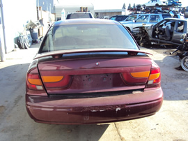 2001 SATURN 4 DOOR SEDAN SL2 MODEL 1.9L DOHC AT FWD COLOR BURGUNDY STK 139852