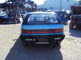 1991 DODGE COLT 2 DOOR HATCHBACK STANDARD MODEL 1.5L MT 5SPD FWD COLOR BLUE  STK # 133626