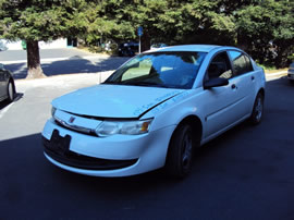 2003 SATURN ION 1 MODEL 4 DOOR SEDAN 2.2L MT FWD COLOR WHITE 149873