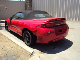 1999 MITSUBISHI ECLIPSE 2 DOOR CONVERTIBLE GS SPYDER MODEL 2.4L AT FWD COLOR RED 133632