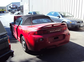 1998 MITSUBISHI ECLIPSE CONVERTIBLE GST SPYDER MODEL 2.0L DOHC TURBO AT FWD COLOR RED 133634