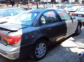 2000 SATURN 4 DOOR SEDAN SL2 MODEL 1.9L DOHC AT FWD COLOR GRAY 139863