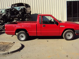 1991 MITSUBISHI PICK UP REGULAR CAB MIGHTY MAX MODEL 2.4L MT 2WD COLOR RED 133643