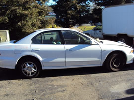 2001 MITSUBISHI GALANT 4 DOOR SEDAN ES MODEL 3.0L V6 AT FWD COLOR WHITE  133646