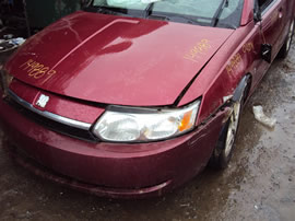 2004 SATURN ION, 2.2L 5SPEED 4DR, COLOR RED, STK 149889
