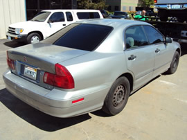 2000 MITSUBISHI DIAMANTE, COLOR SILVER, STK # 103490