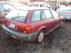 1997 SATURN SW WAGON , COLOR-RED STK# 109769