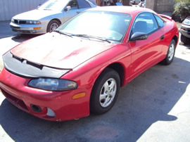 MITSUBISHI ECLIPSE COLOR RED, STK # 103525