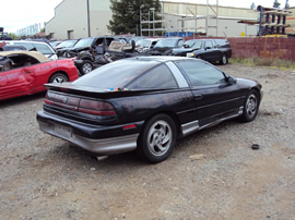 1990 MITSUBISHI EAGLE TALON TSI, 2.0 L ENGINE, TRB MT AWD, COLOR - BLACK , STK #  113553