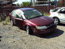 2003 SATURN ION SEDAN COLOR RED STK # 119805