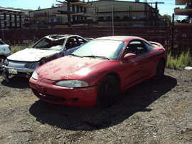 1995 MITSUBISHI ECLIPSE COUPE COLOR RED STK 113564