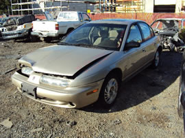 1998 SATURN SL2 MODEL 4DOOR SEDAN,1.9L DOHC MT,COLOR GOLD STK # 119819