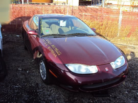 2002 SATURN COUPE 3 DOOR SC2 MODEL  1.9L DOHC AT FWD COLOR MAROON STK # 119822