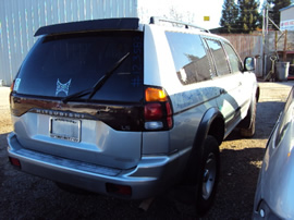 2001 MITSUBISHI MONTERO SPORT LS MODEL 3.0L AT 4X4 COLOR SILVER STK 123587