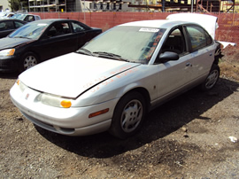 2002 SATURN 4 DOOR SEDAN SL2 MODEL 1.9L DOHC AT FWD COLOR SILVER STK 129831
