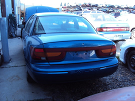 2001 SATURN SL2 MODEL 4 DOOR SEDAN DOHC MT COLOR BLUE STK 129833
