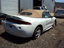 1999 MITSUBISHI ECLIPSE GS SPYDER CONVERTIBLE 2.4L AT FWD COLOR WHITE STK 123597