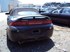 1998 MITSUBISHI ECLIPSE CONVERTIBLE SPYDER GS MODEL 2.4L MT FWD COLOR BLACK STK 123599