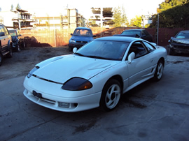 1991 DODGE STEALTH RT TURBO MODEL 3.0L DOHC TURBO MT AWD COLOR WHITE STK 123607