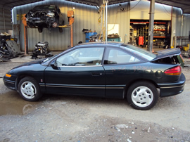 1996 SATURN 2 DOOR COUPE SC2 MODEL 1.9L DOHC AT FWD COLOR GREEN STK 129844