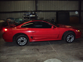 1991 DODGE STEALTH 2 DOOR COUPE RT MODEL 3.0L DOHC NON TURBO AT FWD COLOR RED  STK 123612