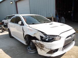 2010 MITSUBISHI LANCER RALLIART WHITE 2.0L AT AWD 183861