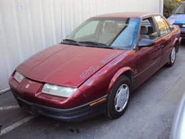 1995 SATURN 4 DOOR SEDAN SL1 MODEL 1.9L SOHC AT FWD COLOR RED 139868