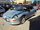 2002 MITSUBISHI ECLIPSE CONVERTIBLE 2.4L MT COLOR SILVER STK 113571