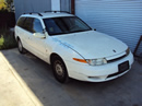 2001 SATURN LW2 STATION WAGON,3.0L AT FWD COLOR WHITE STK 119817