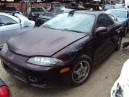 1998 MITSUBISHI ECLIPSE TURBO, 2.0L 5SPEED CPE, COLOR BURGANDY, STK 153698