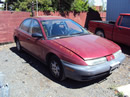 1997 SATURN SL1 MODEL 4DOOR SEDAN 1.9L SOHC AT FWD COLOR RED STK 129834